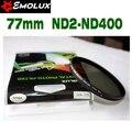 77 мм Emolux тонкий фильтр нейтральной плотности ND2-400 переменная фейдер фильтр регулируемая ND2 к ND400 для объективов