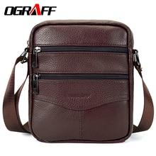 Купить с кэшбэком OGRAFF Men Mags Genuine Leather Shoulder Bags Handbags Briefcase Tablets Crossbody Messenger Bag Men Leather Men Travel Bags