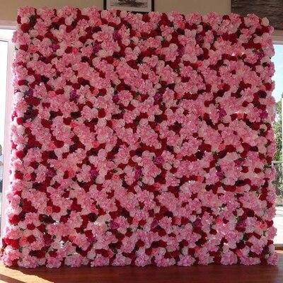 Haute qualité artificielle vraie touche rose hortensia fleur mur fleur pilier photographie accessoires boutique hôtel mariage fleur mur
