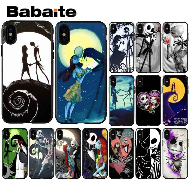 Babaite Nightmare Before Christmas แจ็ค Skellington สำหรับ iPhone 8 7 6 6 S Plus X XS MAX 5 5 S SE XR โทรศัพท์มือถือ