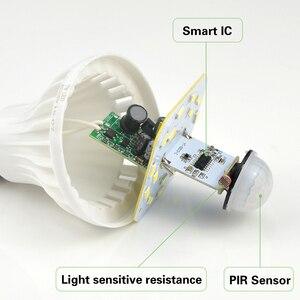Image 5 - Светодиодный светильник с ИК датчиком движения E27, 220 В, 5 Вт, 7 Вт, 9 Вт, автоматический светодиодный светильник с датчиком движения чувствительного человеческого тела, ночной Светильник s