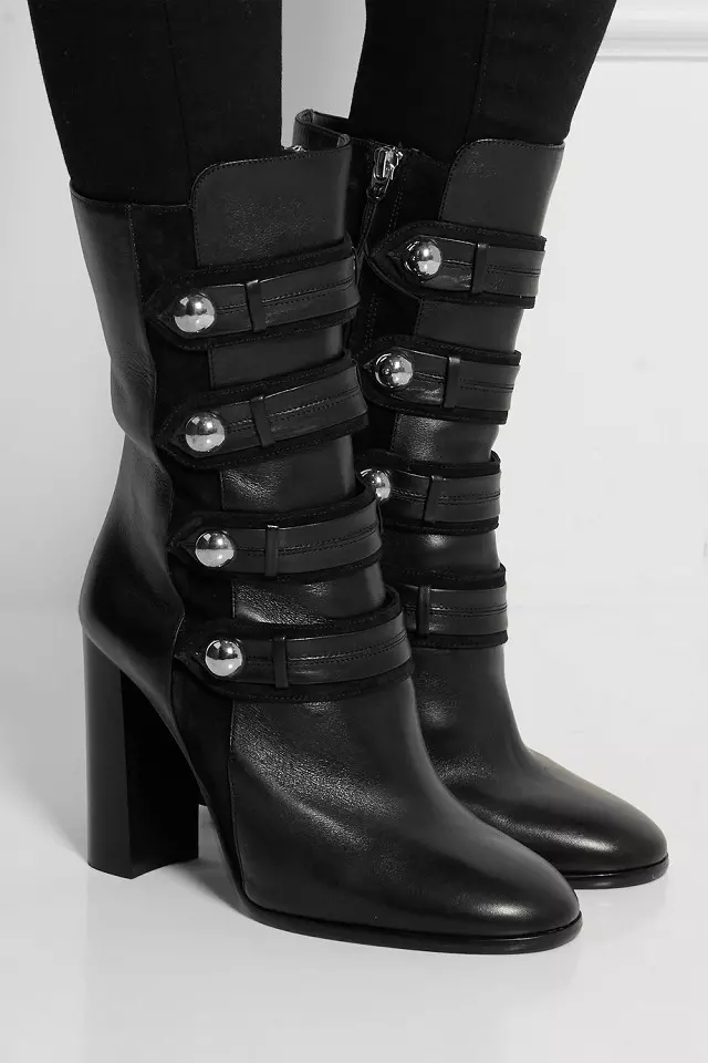 2015 Autumn Lady Arnie Military Boots Suede decorated