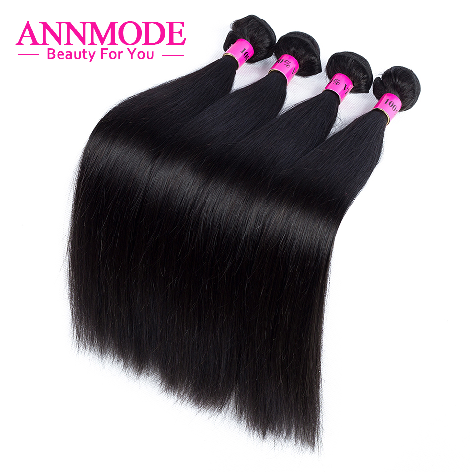 [Annmode] Malaysian Straight Hair For a pcs Free Shipping Natural Color Non-remy Human Hair Can Buy 1/2/3/4/5/6/7 bundles