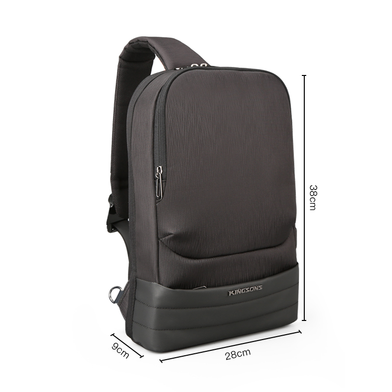 KINGSONS الرجال حقيبة صدر للرجال حقيبة رافعة عارضة قماش الصدر مكافحة سرقة أكياس Crossbody حقائب الكتف عالية الجودة الصدر حزم-في حقائيب الخصر من حقائب وأمتعة على  مجموعة 3