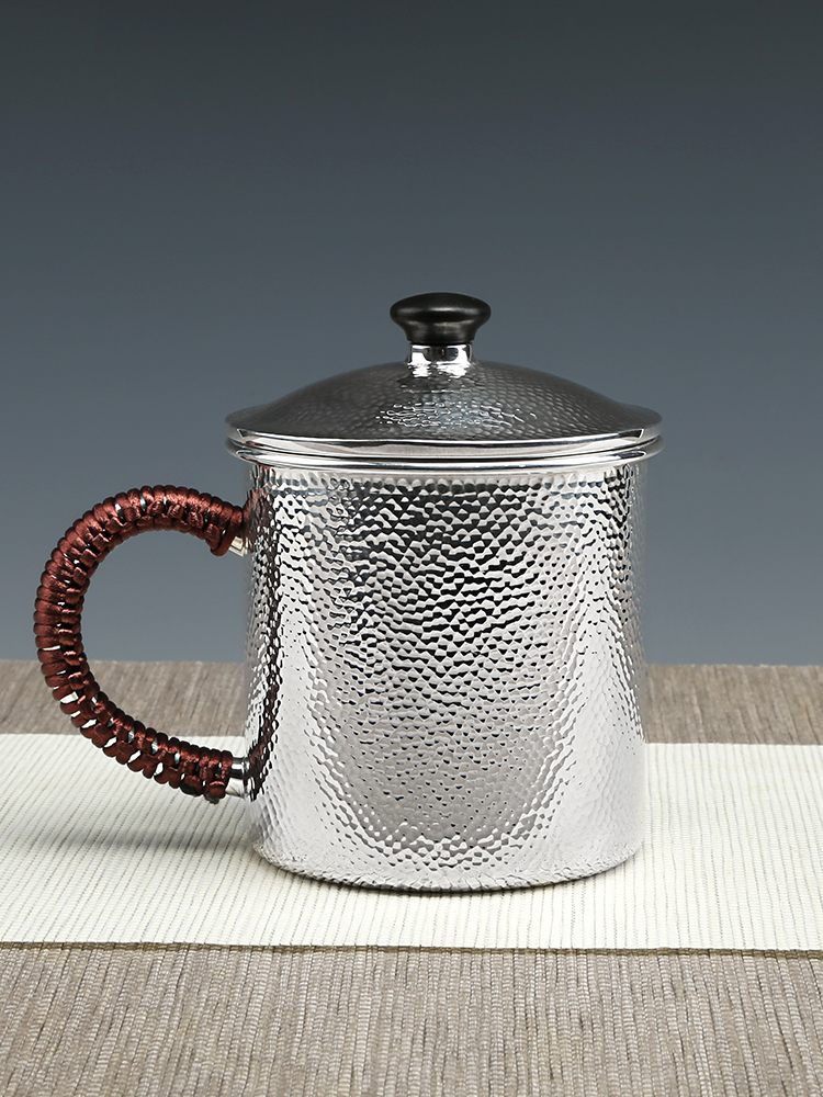 S999 sterling silver tea cup coffee cup household kitchen accessories utility cup|Teaware Sets| |  - title=