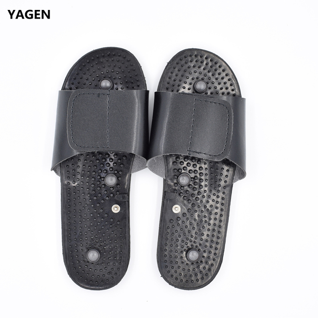 91470fad902 New Electrode Massage Slippers Suit for Tens Acupuncture Therapy Massager  Machine Physiotherapy Body Foot Relaxing Black Rubber