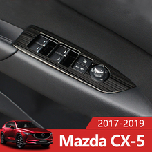 Car Interior Door Armrest Panel Window Switch Lift Buttons Cover Trim Sticker For MAZDA CX-5 CX5 CX 5 2017 2018 2019 Accessories цена и фото