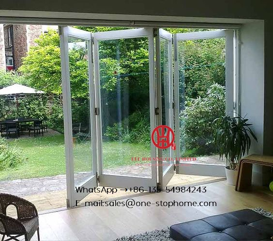 Power Coated Sliding Open Style Aluminum Frame Internal Folding Doors,panoramic Glass Folding Glass Doors For Brisbane