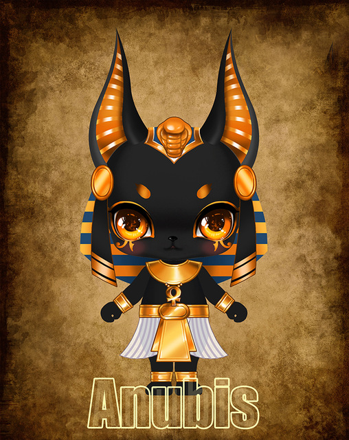 1 12 Anubis resin model bjd doll palm doll toy horses gifts
