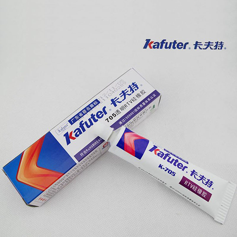 Genuine Kafuter k-705 RTV Silicone Rubber Electronic Glue Sealant Transparent Organosili ...