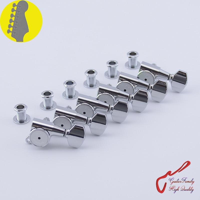 Genuine Original 6 In line GOTOH SG381 07 HAPM Guitar Machine Heads Tuners (Chrome) Locking Height Adjust MADE IN JAPAN