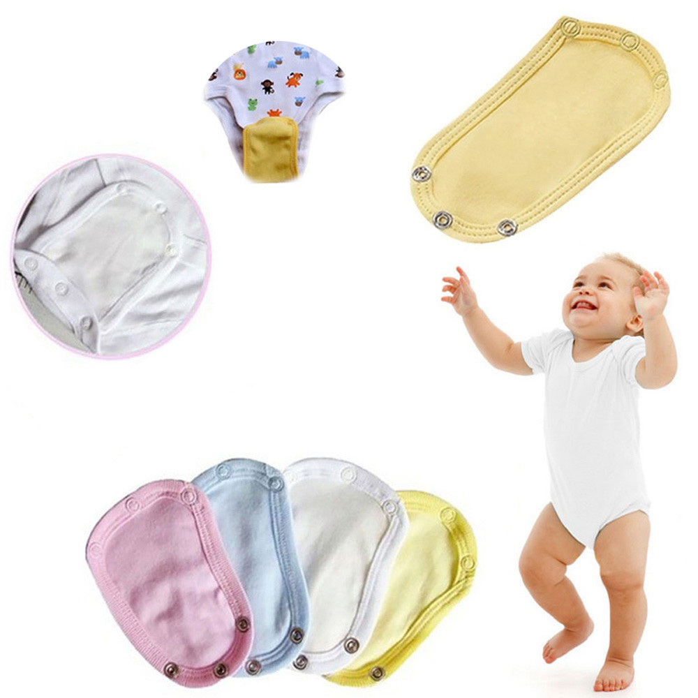 Changing Pads & Covers 4 Colors Baby Romper Crotch Extenter Child One Piece Bodysuit Extender Baby Care 13*9cm Mother & Kids