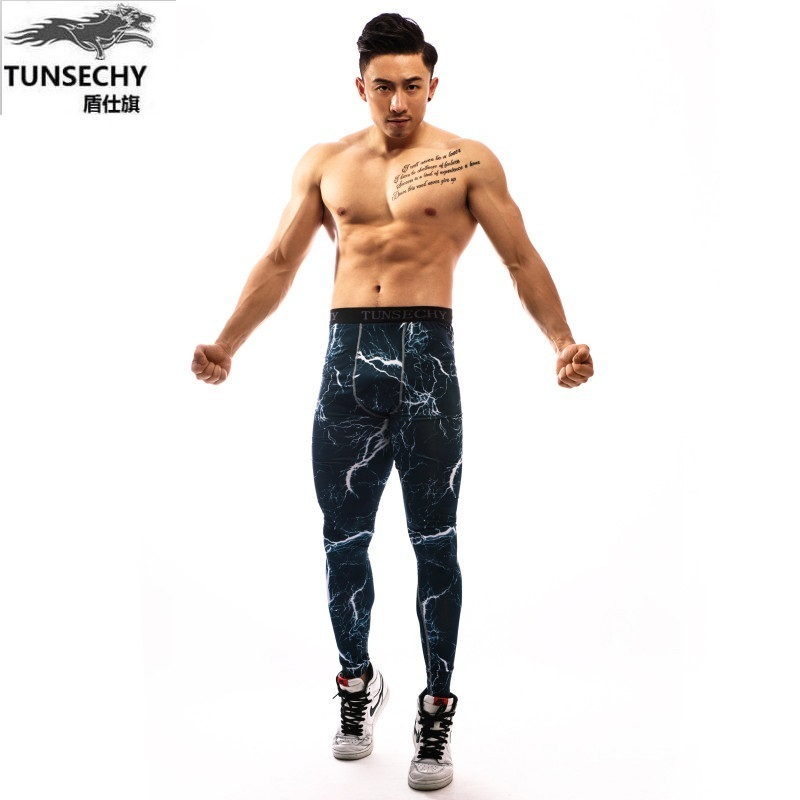 2017 Men Compression Pants Casual Tights Camouflage Pants Bodybuilding Mans High Elasticity Joggers Cross fit Skinny Leggings