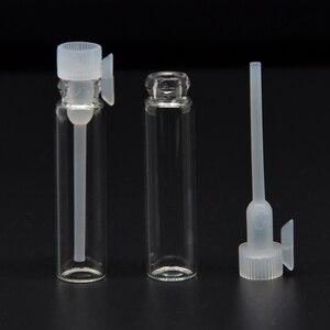 100 шт 1/2/3 мл пустые Мини Стеклянные Духи маленький образец флаконы, парфюмерный флакон лабораторная Жидкость Аромат пробная бутылка