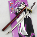 Hot Anime Bleach Ichigo Kurosaki Buckle Knife Hitsugaya Byakuya Kuchiki Ichimaru Silver Keychain Blade Sword Cosplay Prop Gifts
