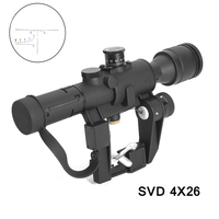 Tactical 4x26 Dragunov SVD Sight Scope Red Illuminated PSO 1 Type Riflescope Sniper Rifle Series AK Rifle Scope For Hunting