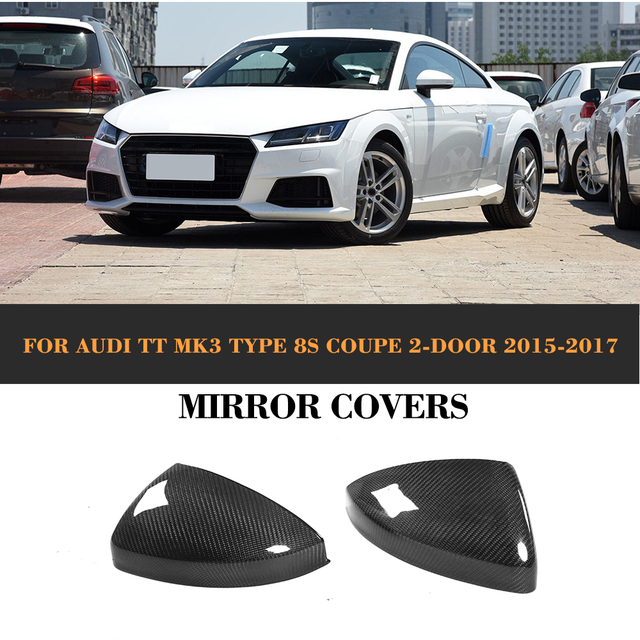 Carbon Fiber Rearview Mirror Covers for Audi TT TTS 8J MK2 MK3 2006 - 2017 Replaced Style Mirror Cap