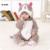 Easter Presente Da Roupa Do Bebê Inverno Manga Longa Infantil Onesie Doraemon Kitty Cat Costumes Totoro Macio Conjunto Macacão de Bebê Macacões