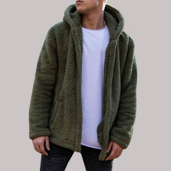 Hanyu Winter Women Fashion Casual Pure Color Loose Fluffy Bear Ear Hooded Coat 2018 Autumn New Style European And American Fashi