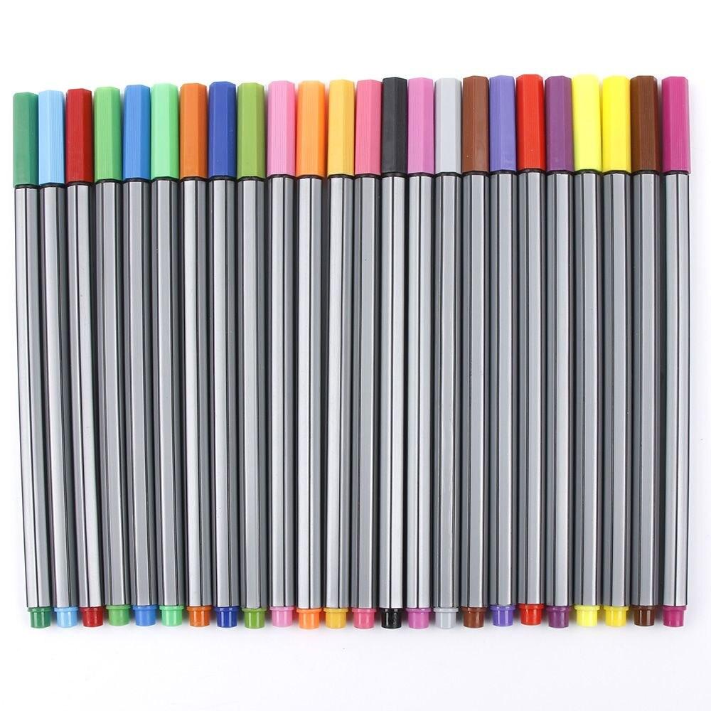 New 24-color Pastel Set DIY Colorful Marker Pens Art Painting Pencils Fiber Tip Pens Gift super doodle gel pens 48 color painting pens set