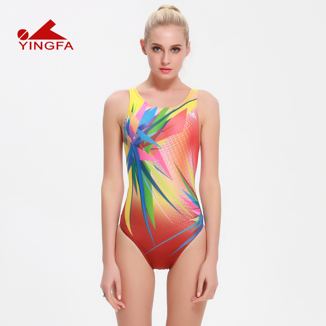 65af69678f Yingfa 2016 one piece women swimsuits Kids racing kids competitive swimsuit  Girls training competition swim suit
