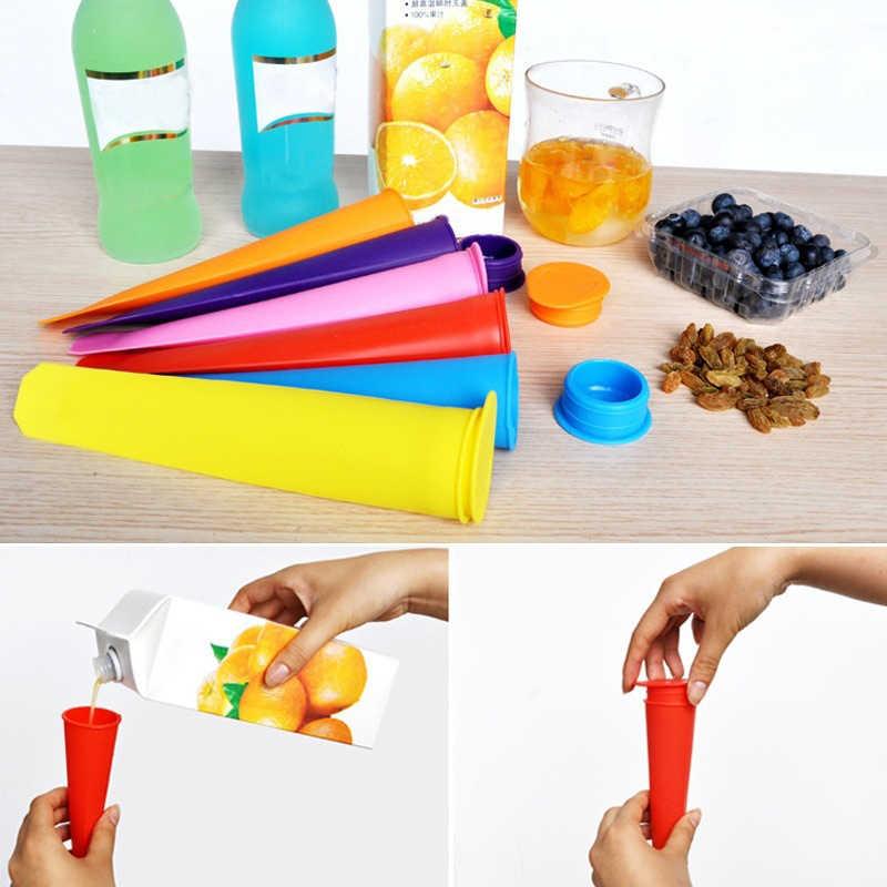 ซิลิโคน Ice Pop Mold Popsicles Mould พร้อมฝาปิด DIY ไอศครีม Push Up Ice Cream วุ้น Lolly Pop สำหรับ Popsicle BTZ1