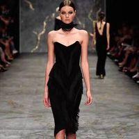 Shining Beauty High Quality Celebrity Black Tassel Bodycon Rayon Bandage Dress Elegant Cocktail Party Dress Wholesale