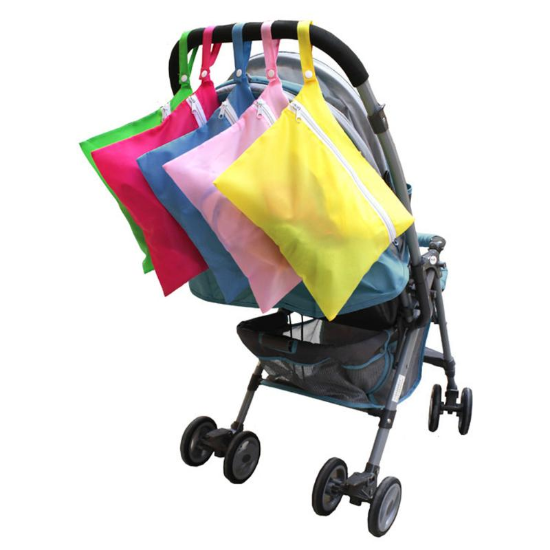 Colorful Waterproof Baby Stroller Nappy Storage Bag for Diaper Baby Clothes Baby Car Accessories  Travel Diaper Bag Maternity Nu(China)