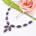Free Shipping - Top fashion best seller jewelry  women fashion mystic purple crystal amethyst necklace N0517