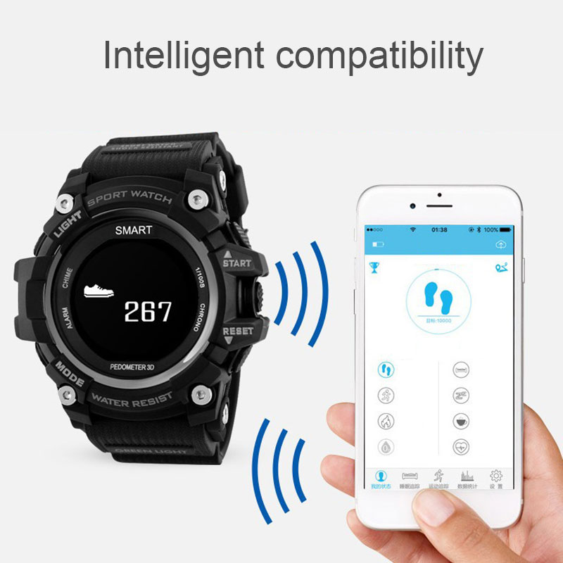 0,96 Zoll Bluetooth Smartwatch Wasserdicht Heart Rate Monitor Outdoor Sport Smart Uhr Für Ios Android Telefon Nd998 Moderne Techniken Tragbare Geräte