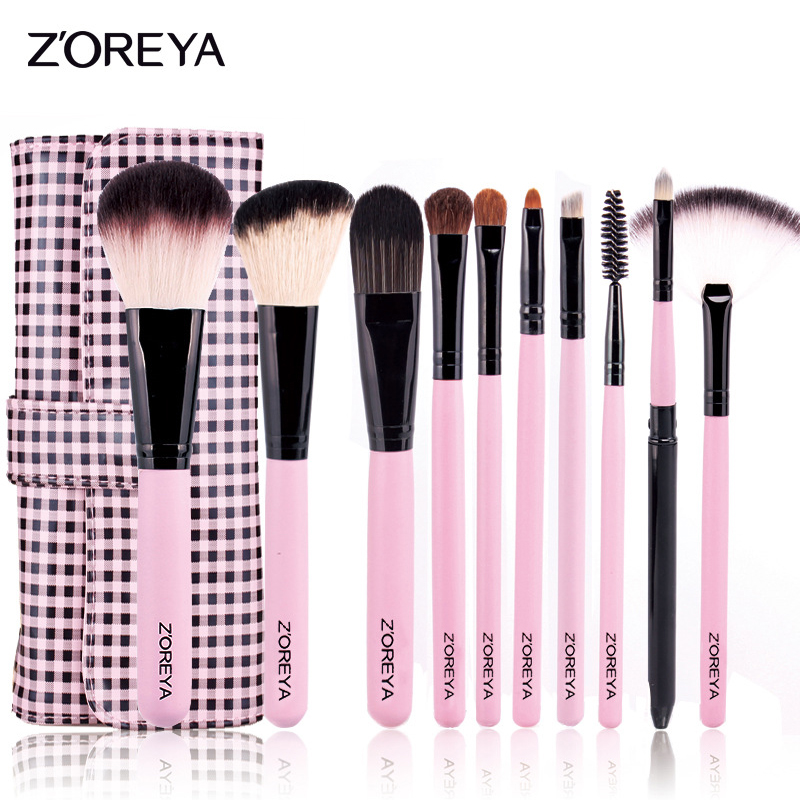 ZOREYA Professional 10pcs Makeup Brushes Set Cosmetic Powder Foundation Eyeshadow Eyeliner Brush Make Up Brush Tools Maquiagem makeup cosmetic soft foundation powder brush beauty marble make up tools brushes set 10pcs