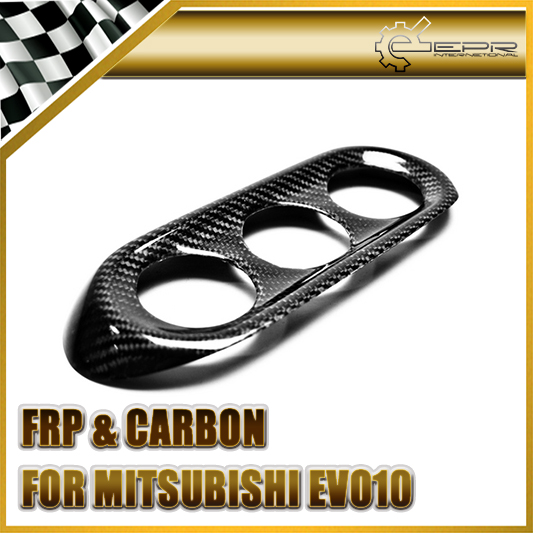 Car-styling For Mitsubishi Evolution EVO 10 X Carbon Fiber Air Condition Trim Fibre Air Vent Garnish