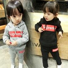 Children's clothing female child autumn set 2016 spring and autumn baby sweatshirt 3 – 4 – 5 child sports twinset