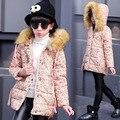 Shiver Moda da menina do Algodão-acolchoado Roupas Jaquetas/casacos de Inverno Rússia Bebê Casacos Outerwears Grossas Crianças Casaco Quente jaquetas