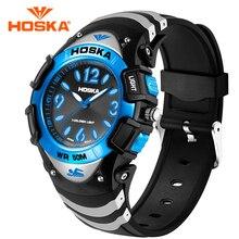 Brand New HOSKA Sport Watches 2017 Super Popular Fashion Quartz-Watch Handsome 50M Waterproof Luminous Wristwatches with Alarm