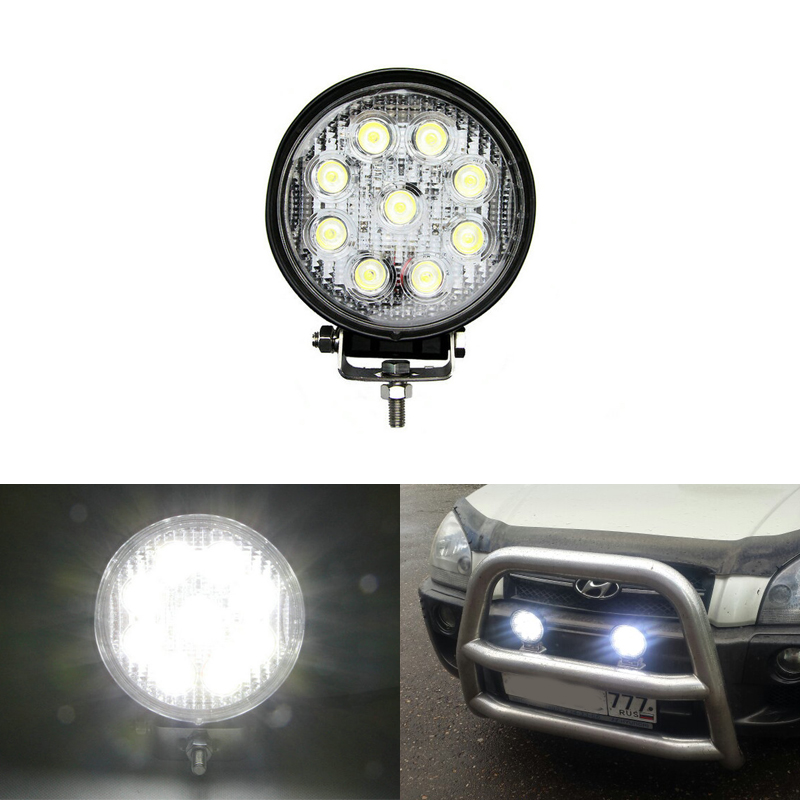 27w Led Work Light 12v Led Tractor Work Lights 24v Offroad 4x4 Atv Boat Bumber Driving Lights Spot Beam Drip-Dry Automobiles & Motorcycles