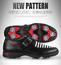 PGM golf shoes The first layer leather shoes for golf men's shoes waterproof breathable shoes freeshipping