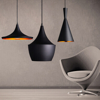 3 stks/set Zwart/Wit/Goud/Rood/Hout hanglamp Engeland Beat Muziekinstrument ABC Opknoping Hanger licht Lamp Eetkamer Licht