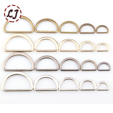 20pcs/lot 15mm/20mm/25mm/30mm/40mm silver black bronze gold  type D ring Connection alloy metal shoes bags Buckles DIY Accessory