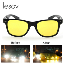 Lesov Yellow Lens Night Driving Glasses Polarized Sunglasses Riding Goggles Unis
