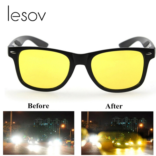 5281a561d61 Lesov Yellow Lens Night Vision Driving Glasses Polarized Sunglasses Riding  Goggles Unisex Blue Light Blocking Glasses Flash Deal
