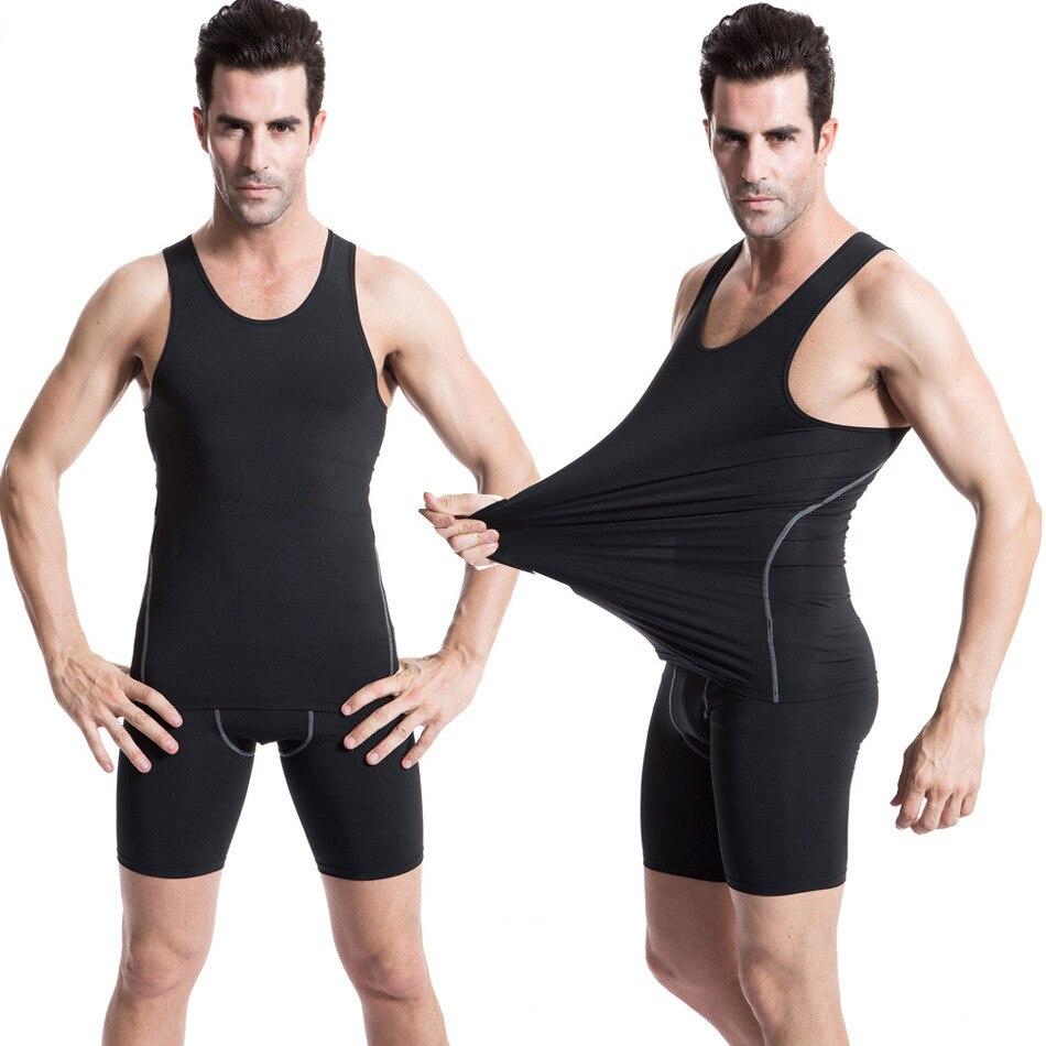 Men Compression Sleeveless Base Layers Tank Top Fitness Basketball T Shirt Vest