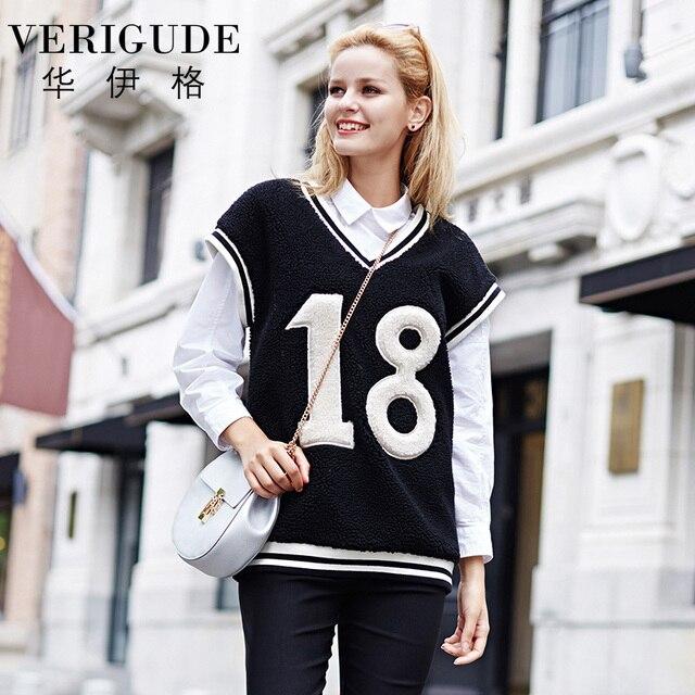 Veri Gude Women Sleeveless Sweater Vest Fleece Pullover Loose Tops
