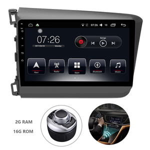 Android 7.1 1 Din Car Multimedia DVD Player For Honda Civic 2012-2015 GPS Navigation System With Carplay/Bluetooth/Dual-zone