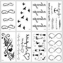 Rocooart Classic Black Tattoo Cat Bird Fake Tattoo Tatuajes Hand Tatouage Body Waterproof Temporary Tattoo Sticker Small Taty(China)