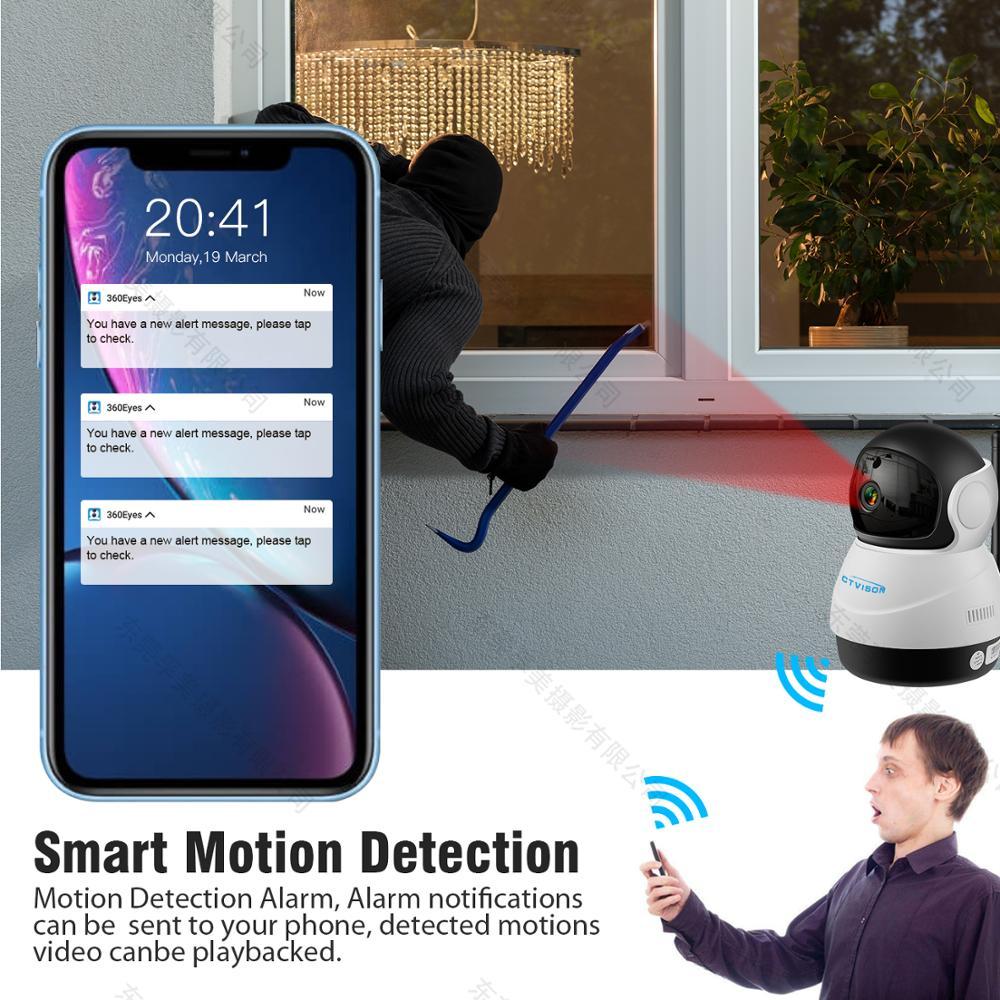 Image 5 - IP беспроводная камера безопасности PTZ WiFi 1080 PHD двухсторонний аудио удаленный доступ/Обнаружение движения/хранение sd карт/3D навигация-in Камеры видеонаблюдения from Безопасность и защита