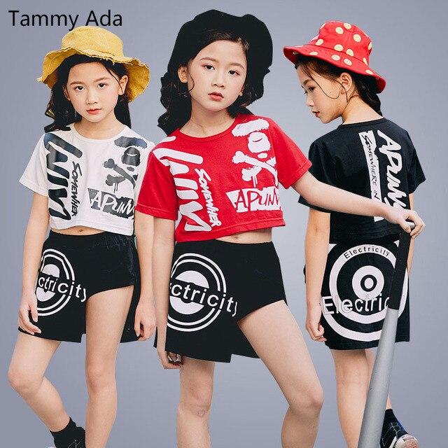 Tammy Ada chicas adolescentes Hip Hop danza concurso traje verano niños ropa  conjunto deporte chica personalidad b32e6fab207