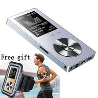 Новые спортивные MP3 плеер с Динамик 8 г 80 часов металлический MP3 музыкальный плеер с Экран голос Регистраторы видео ремешок на руку наушники