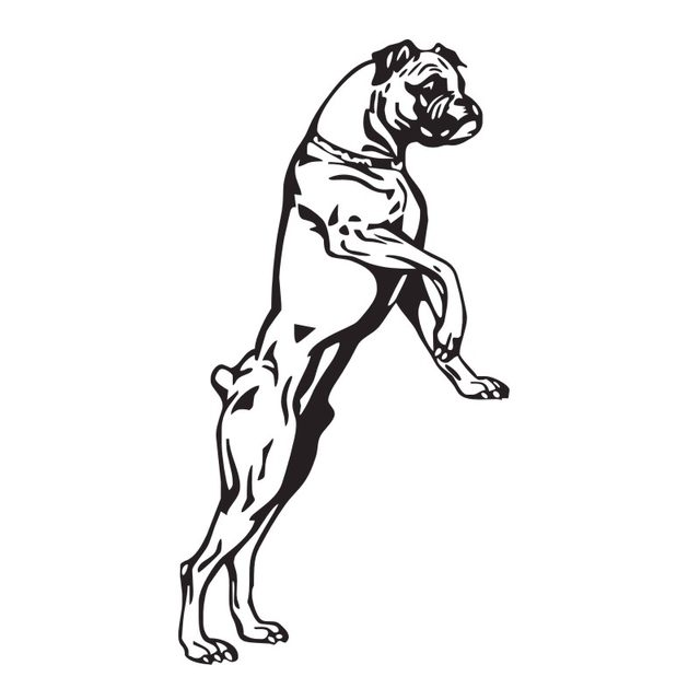 Online Shop Large Size Boxer Dog Wall Decals Vinyl Stickers Home ...