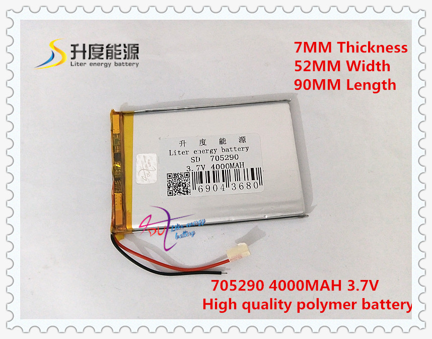 3,7 V 4000 Mah 705290 polymer Lithium-ion/li-ion Batterie Für Power Bank Tablet Pc Gps Mp3 Mp4 Spielzeug